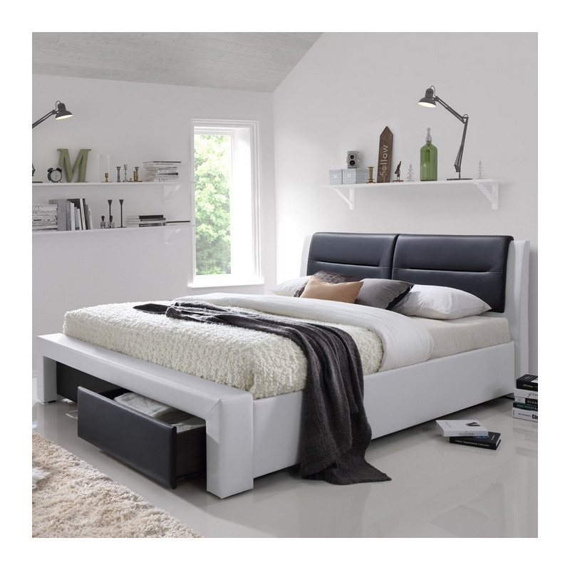 lit 160 x 200cm avec sommier coffre sandra. Black Bedroom Furniture Sets. Home Design Ideas