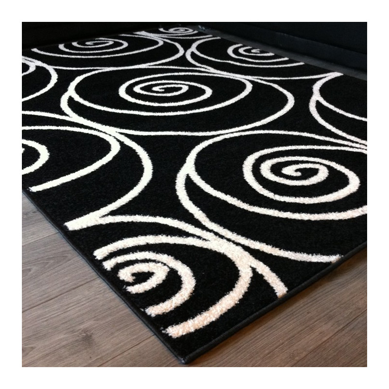 tapis noir remik tapis design noir et blanc. Black Bedroom Furniture Sets. Home Design Ideas