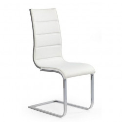 Chaise luge design grise et blanche aury for Chaise blanche confortable