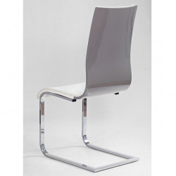 chaise design luge blanche grise