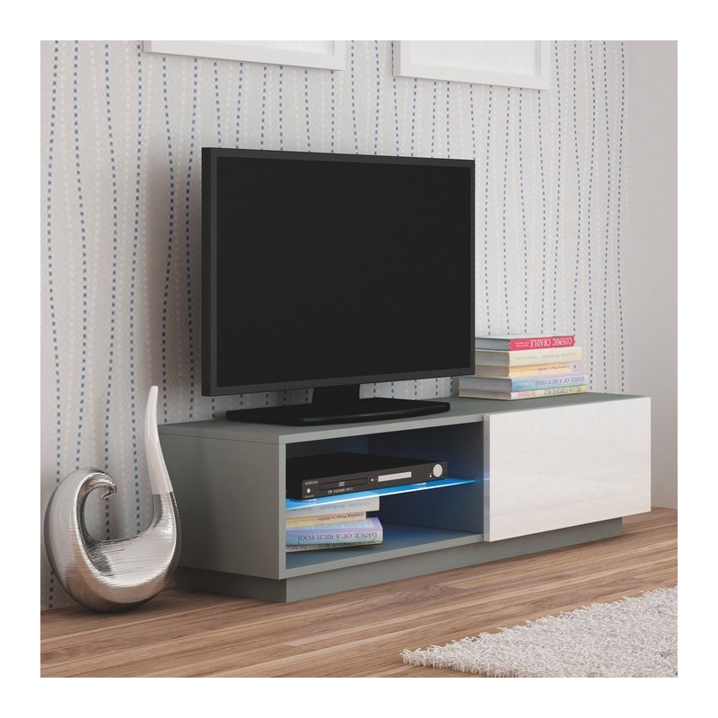 meuble led cheap ensemble meuble tv design danilo with. Black Bedroom Furniture Sets. Home Design Ideas