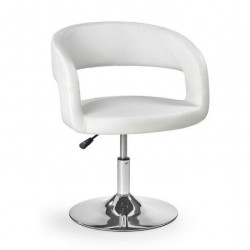 Fauteuil blanc pied rond rotatif Grizy