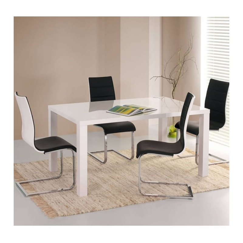 beautiful table noire chaise blanche contemporary