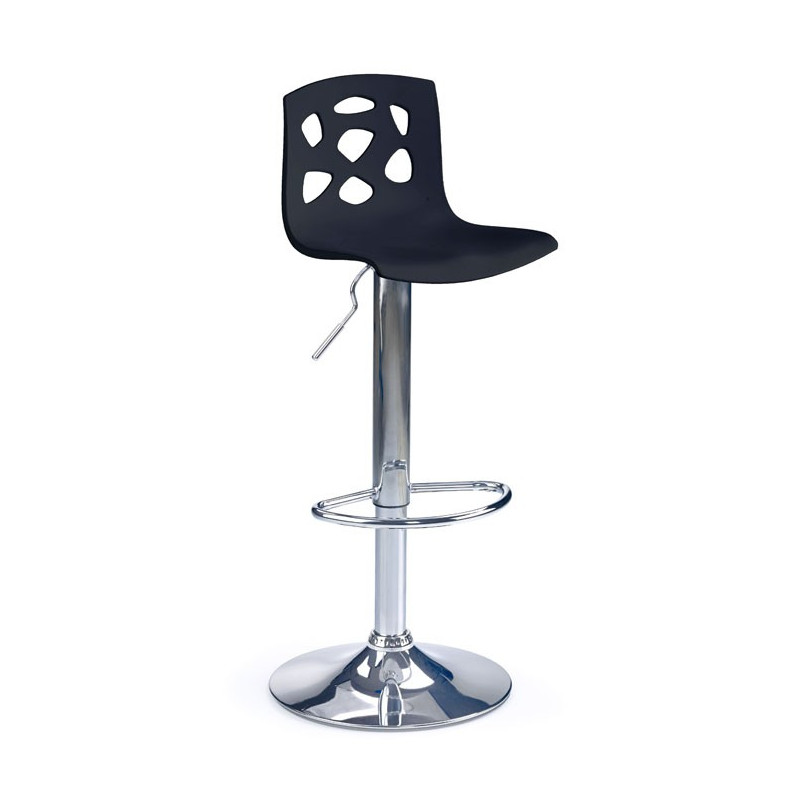 tabouret de bar design noir ou blanc lilia. Black Bedroom Furniture Sets. Home Design Ideas