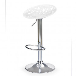 Tabouret de bar design blanc gris ou bleu Matrix