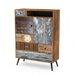 Buffet haut industriel multicolore Alto
