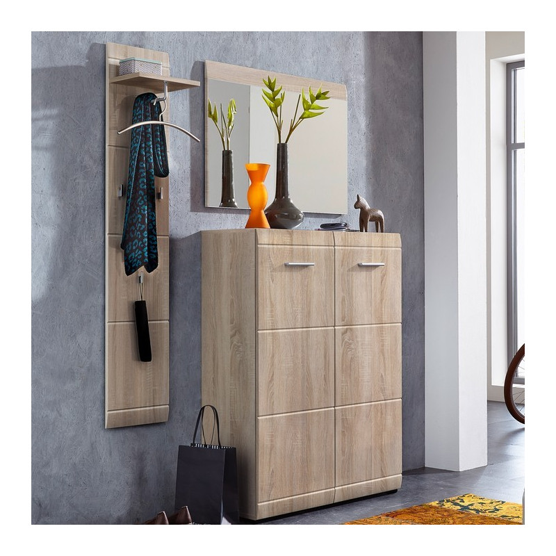 meuble a chaussures 20 paires chene clair goteborg so inside. Black Bedroom Furniture Sets. Home Design Ideas