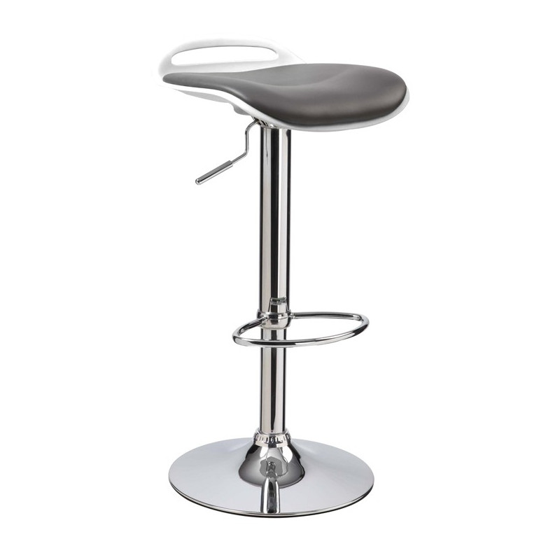 tabouret de bar design noir et blanc rotatif cuba. Black Bedroom Furniture Sets. Home Design Ideas
