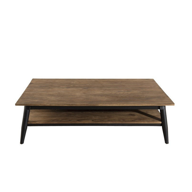 Table Basse Bois Teck Pieds M Tal 120x70cm Tinesixe