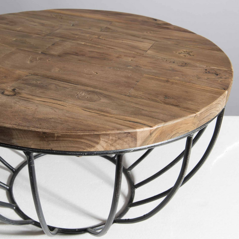 Table basse ronde noire 60x60 tinesixe - Tables basses noires ...