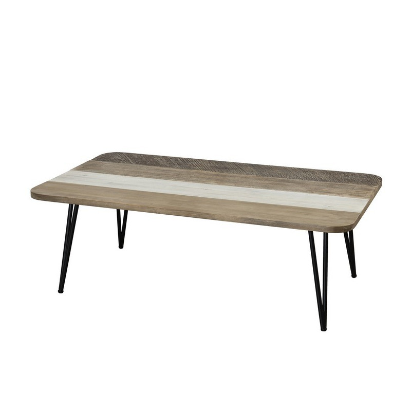 Table basse bois massif rectangulaire Alice