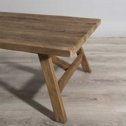 Table basse bois Teck 120x60cm Tinesixe