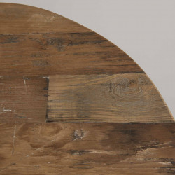 Table basse ronde blanche 75x75cm bois Teck TINESIXE