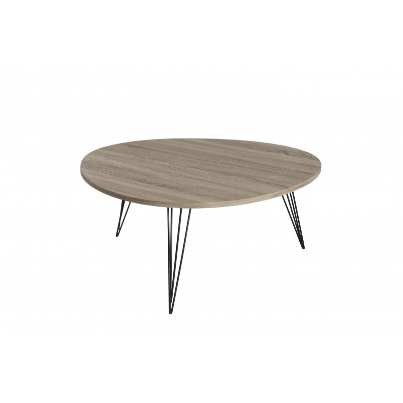 Table Basse Ovoide Pieds M Tal 90x90 Sveg So Inside