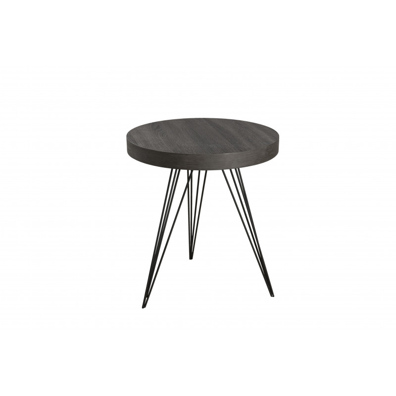 Table d 39 appoint ronde 50x50cm mdf pieds m tal sveg so inside for Table d appoint ronde