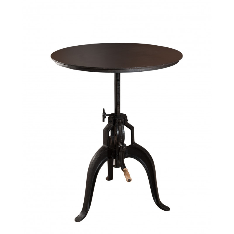 Table haute ronde de bar industrielle maga so inside - Hauteur table haute ...