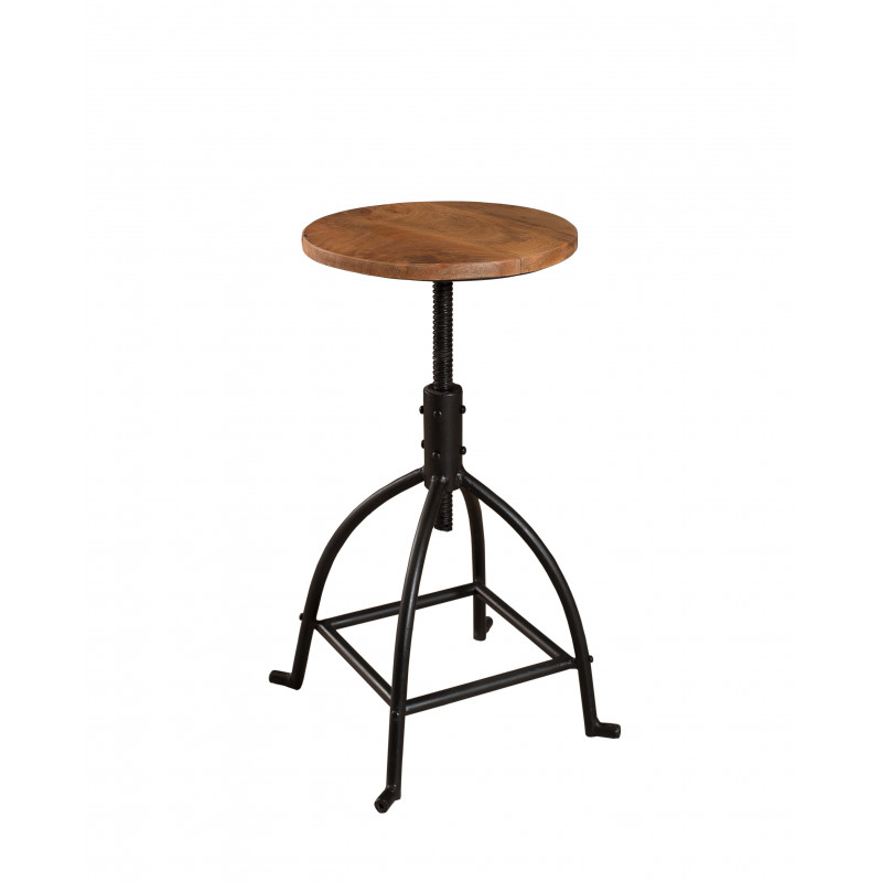 tabouret de bar bois et m tal industriel maga so inside. Black Bedroom Furniture Sets. Home Design Ideas