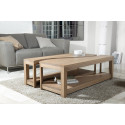 Table basse rectangulaire bois 2 parties 120x70cm Jule
