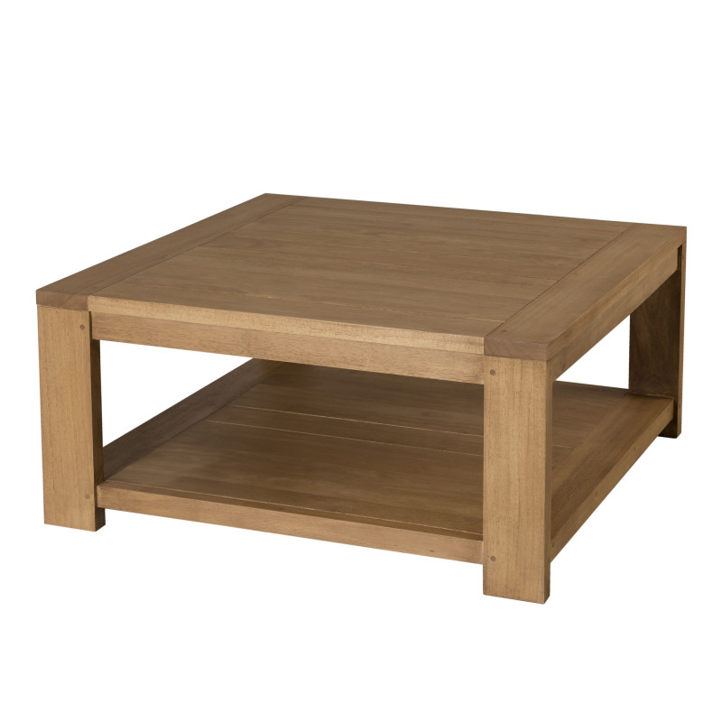 Table basse carrée 80×80 bois massif Jule So Inside # Table Basse Carrée Bois Clair
