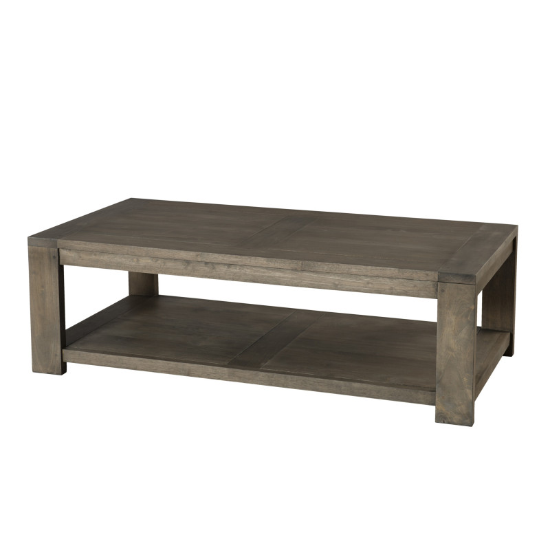Table basse bois massif rectangulaire 120x60 jule so inside for Table basse rectangulaire bois