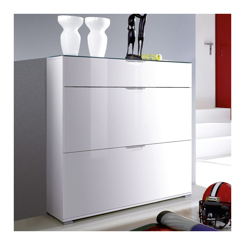 meuble a chaussure laqu blanc meuble chaussures blanc. Black Bedroom Furniture Sets. Home Design Ideas