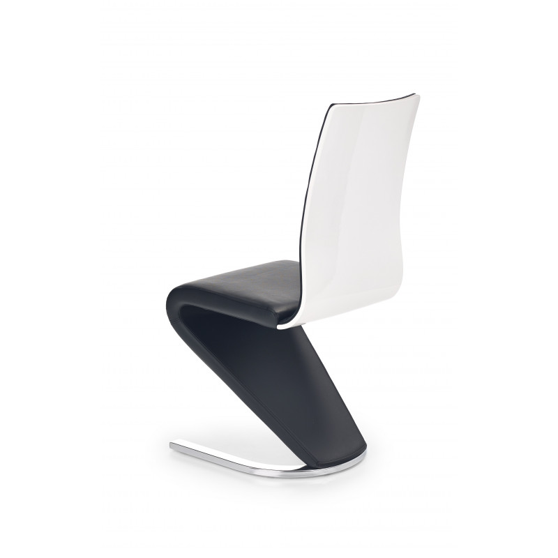 Chaise design noire et blanche pied u horine for Chaise design blanche