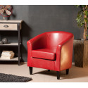 Fauteuil cabriolet rouge mana