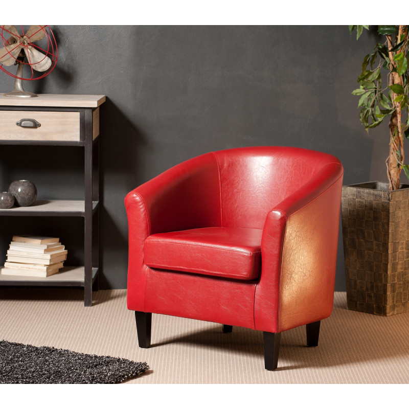 fauteuil cabriolet rouge mana so inside. Black Bedroom Furniture Sets. Home Design Ideas