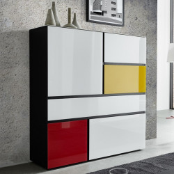 Buffet haut multicolore design Rivone
