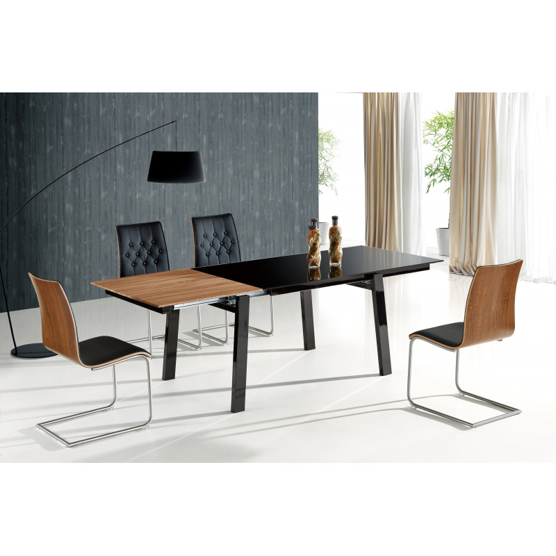 Table de salle manger design beney avec rallonge en for Table de salle a manger design