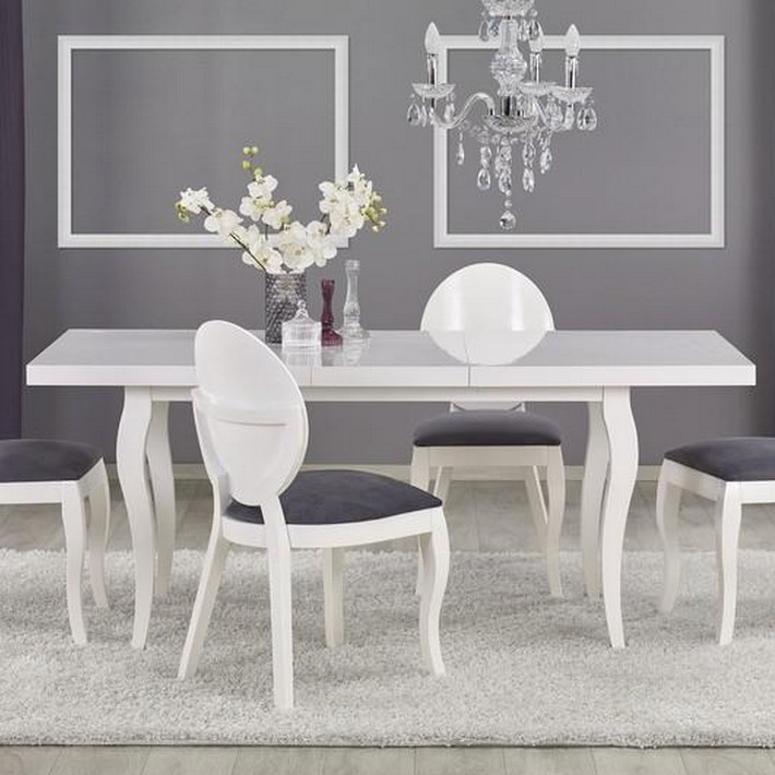 best table salle a manger blanche photos amazing house design. Black Bedroom Furniture Sets. Home Design Ideas