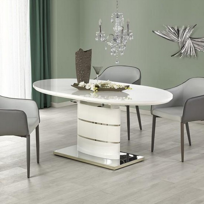 Awesome table a manger blanche avec rallonge ideas - Table salle a manger carree ...