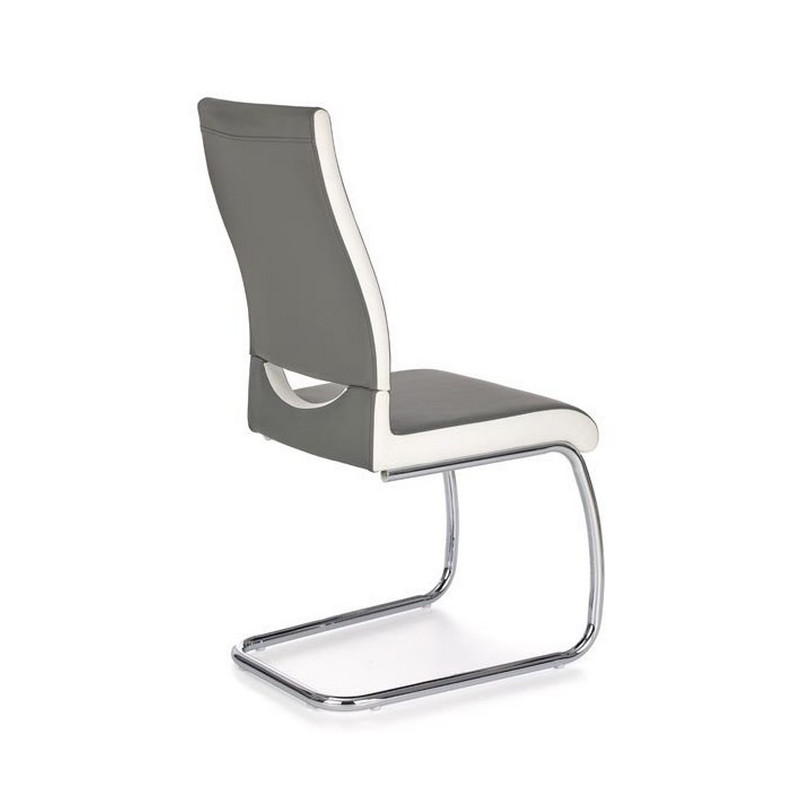 Chaise grise salle manger design olly so inside for Chaise blanche salle a manger