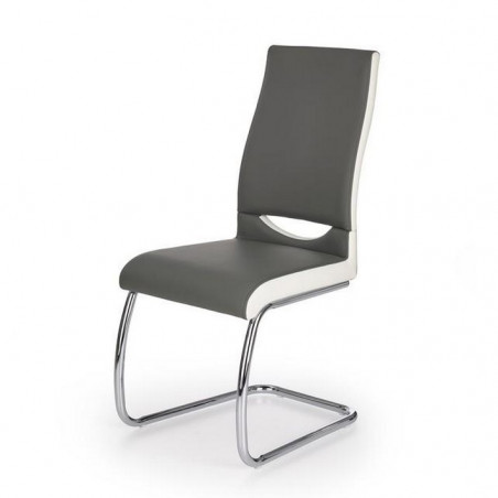 Chaise grise blanche design Olly