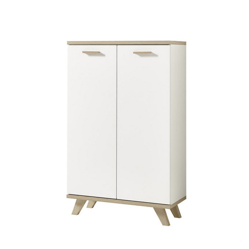 Armoire de bureau scandinave 2 portes malmo so inside for Armoire de bureau blanc