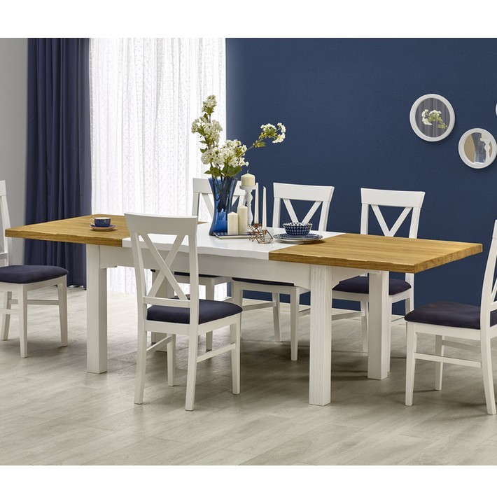 Stunning table a manger blanche extensible photos for Table salle a manger 250 cm