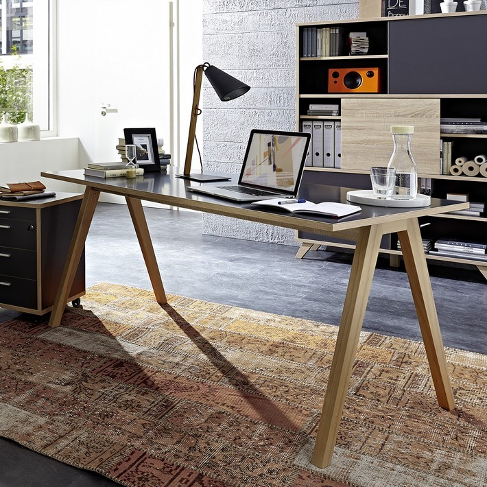 plateau bureau bois massif stunning suprieur plateau bureau bois massif with plateau bureau. Black Bedroom Furniture Sets. Home Design Ideas
