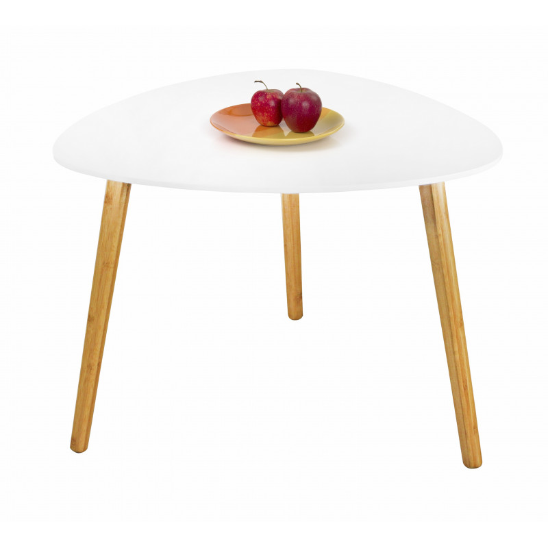 Table basse gigogne blanche laqu blanc rosy tables for Table gigogne bois