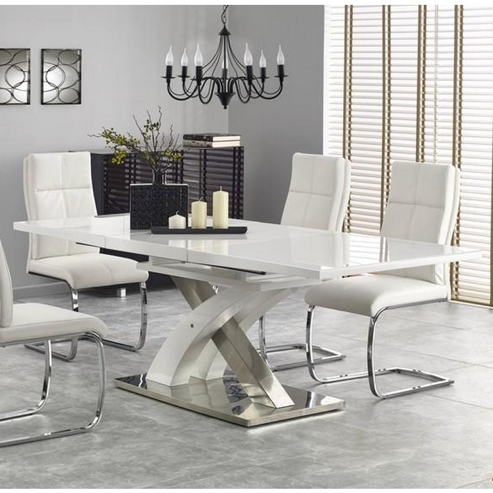 Awesome table a manger blanche laque gallery awesome for Salle a manger blanc laque cdiscount