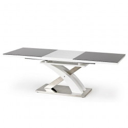 Table a manger design gris blanc rallonge Flora