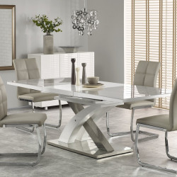 High Quality Table A Manger Extensible Blanc Et Gris Design Flora