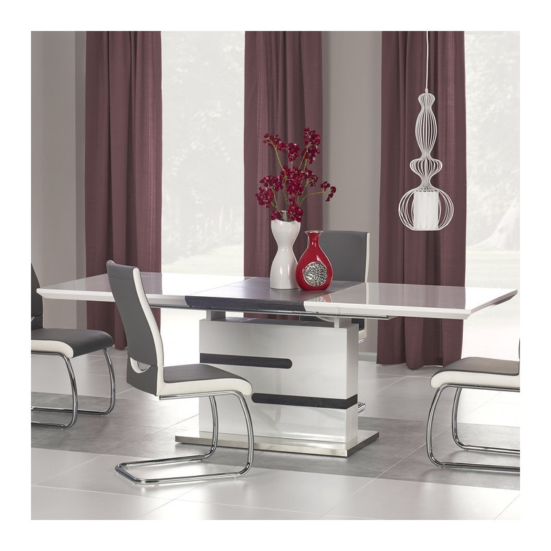 Emejing table a manger blanche et grise pictures amazing for Table salle a manger grise