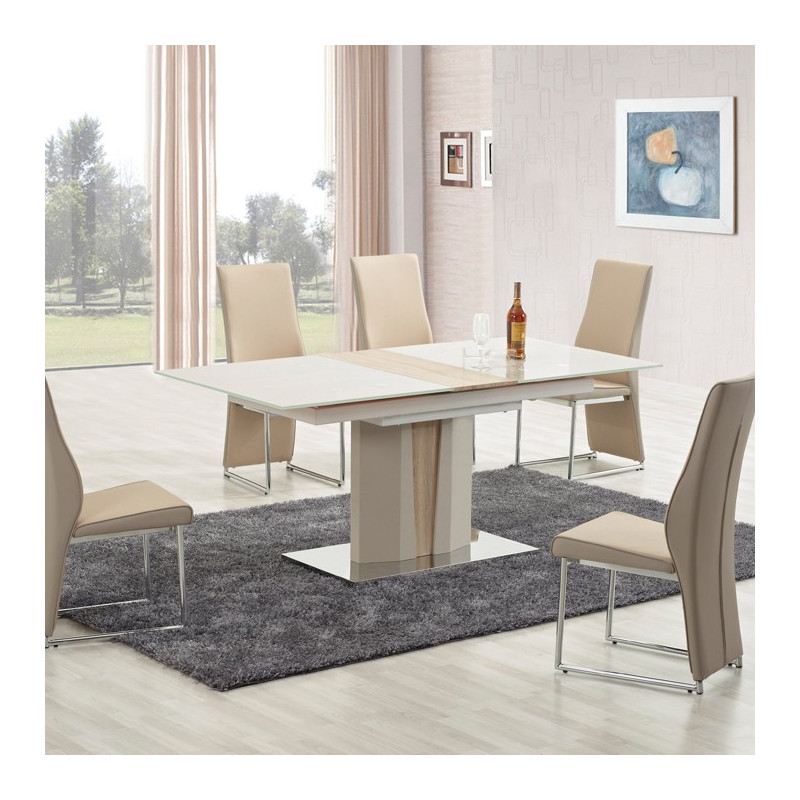 table 224 manger bois et beige clair dari so inside