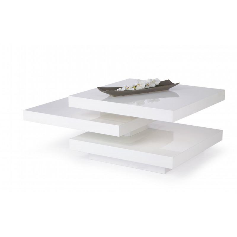 Table basse carre blanc laque 28 images table basse - Table basse opium carre ...