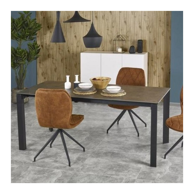 Table a manger 120 180cmx85cm extensible plateau b ton lilas for Table extensible industrielle