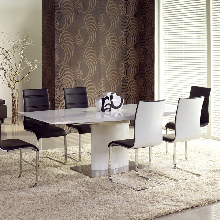 table blanc laqu rallonge latest table carree blanc laque avec rallonge pour idees de deco de. Black Bedroom Furniture Sets. Home Design Ideas