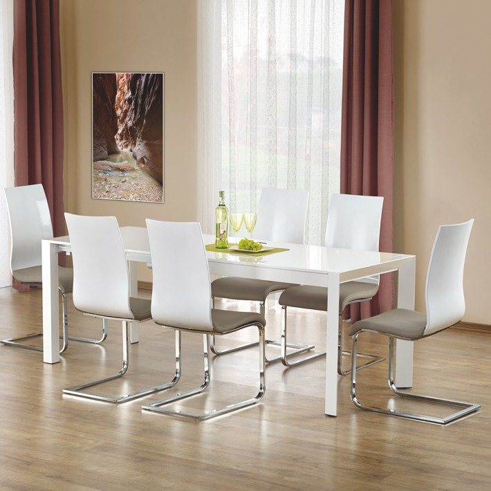 Table A Manger Extensible Blanc Laque Mike