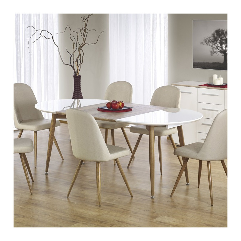 table a manger blanc et bois awesome table a manger blanche et bois contemporary awesome. Black Bedroom Furniture Sets. Home Design Ideas