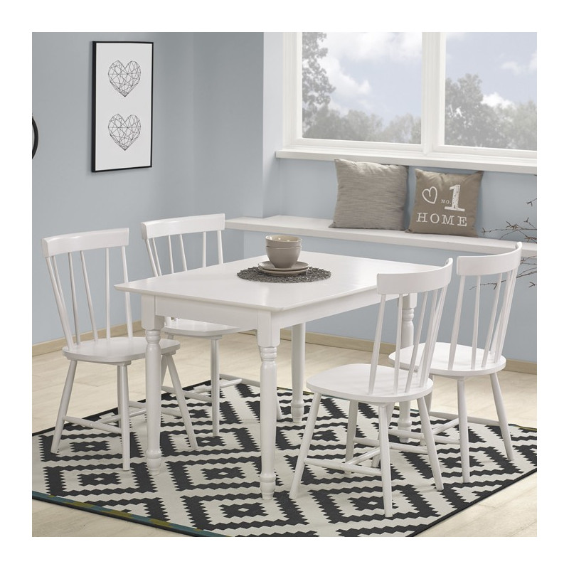 table extensible d co campagne blanche erin so inside. Black Bedroom Furniture Sets. Home Design Ideas