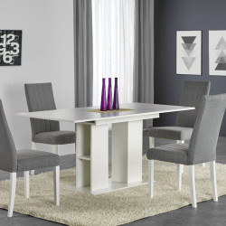 Table contemporaine blanche Hortense
